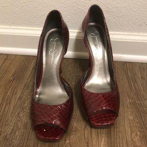 c56c9d093d8 Jessica Simpson Peep Toe Pumps
